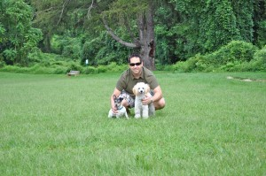Bri and the pups
